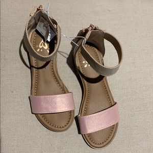 JUSTICE Pink and Tan Sandal NEW